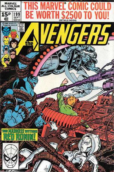 Cover for The Avengers (Marvel, 1963 series) #199 [Direct Edition]