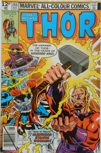 Cover for Thor (Marvel, 1966 series) #286 [Newsstand Edition]