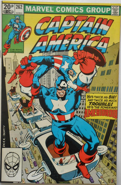 Cover for Captain America (Marvel, 1968 series) #262 [Direct Edition]