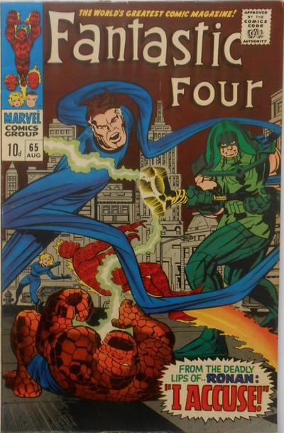 Cover for Fantastic Four (Marvel, 1961 series) #65 [Regular Edition]