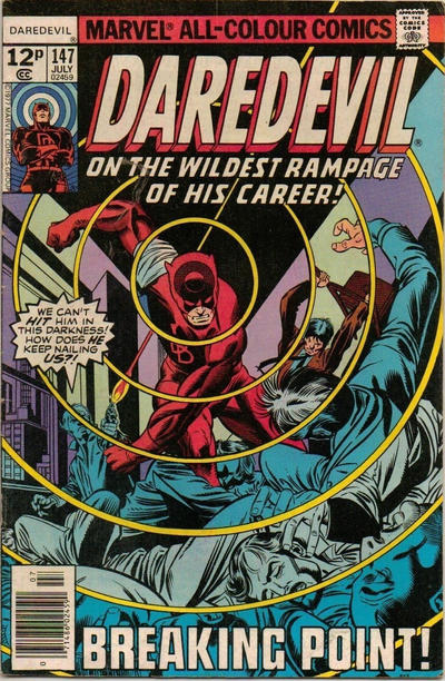 Cover for Daredevil (Marvel, 1964 series) #147 [30¢ Cover Price]