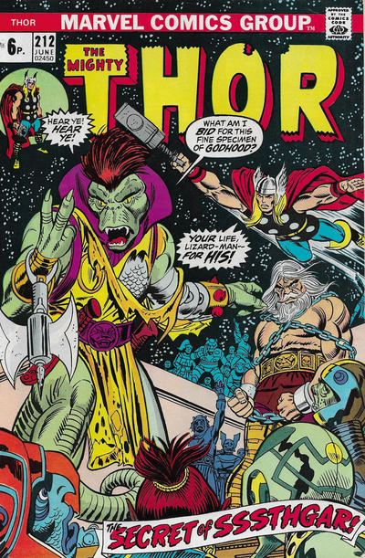 Cover for Thor (Marvel, 1966 series) #212 [Regular Edition]