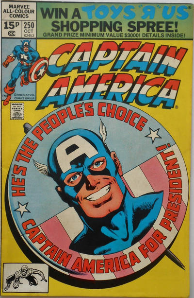 Cover for Captain America (Marvel, 1968 series) #250 [Newsstand Edition]