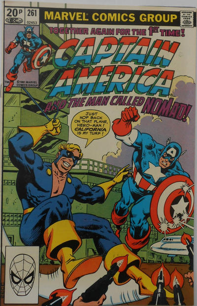 Cover for Captain America (Marvel, 1968 series) #261 [Newsstand Edition]