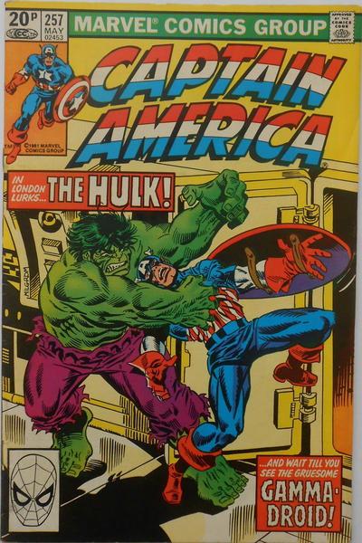 Cover for Captain America (Marvel, 1968 series) #257 [British]