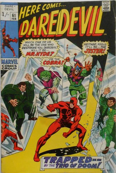 Cover for Daredevil (Marvel, 1964 series) #61 [Regular Edition]