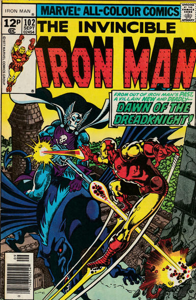 Cover for Iron Man (Marvel, 1968 series) #102 [30¢ Cover Price]