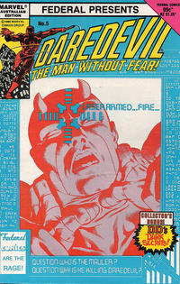 Cover Thumbnail for Daredevil (Federal, 1983 series) #5