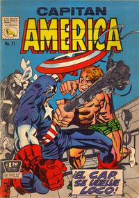 Cover Thumbnail for Capitán América (Editora de Periódicos La Prensa S.C.L., 1968 series) #21