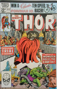 Cover Thumbnail for Thor (Marvel, 1966 series) #313 [British ]