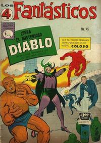 Cover Thumbnail for Los 4 Fantásticos (Editora de Periódicos La Prensa S.C.L., 1962 series) #45