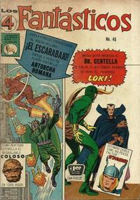 Cover Thumbnail for Los 4 Fantásticos (Editora de Periódicos La Prensa S.C.L., 1962 series) #46
