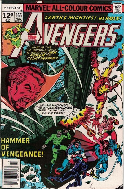 Cover for The Avengers (Marvel, 1963 series) #165 [Regular Edition]