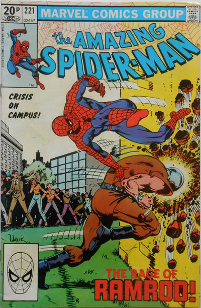 Cover for The Amazing Spider-Man (Marvel, 1963 series) #221 [Direct Edition]