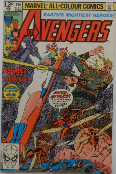 Cover for The Avengers (Marvel, 1963 series) #195 [Direct Edition]