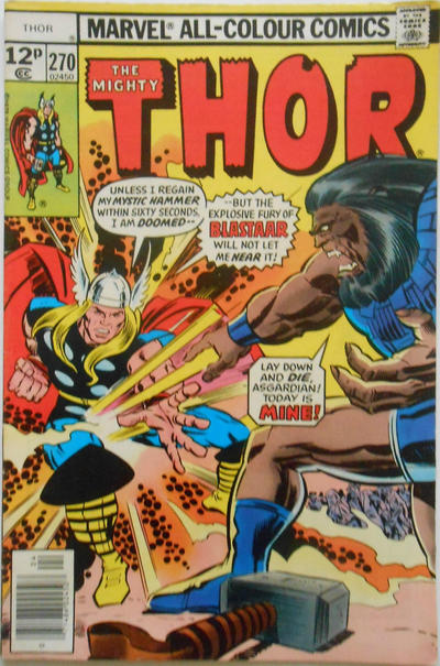 Cover for Thor (Marvel, 1966 series) #270 [Regular Edition]