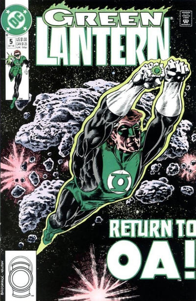 Cover for Green Lantern (DC, 1990 series) #5 [Newsstand]
