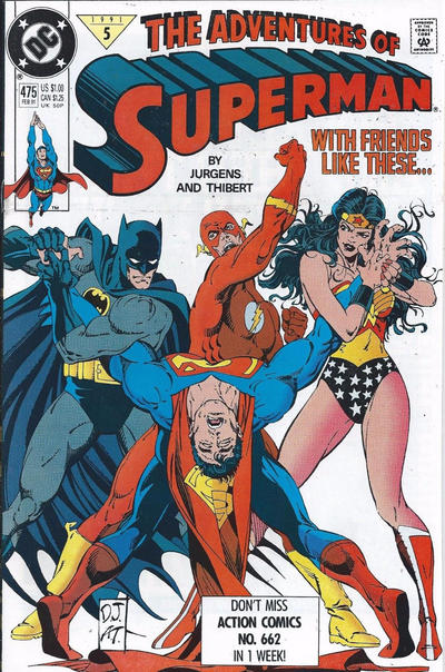 Cover for Adventures of Superman (DC, 1987 series) #475