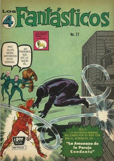 Cover for Los 4 Fantásticos (Editora de Periódicos La Prensa S.C.L., 1962 series) #27