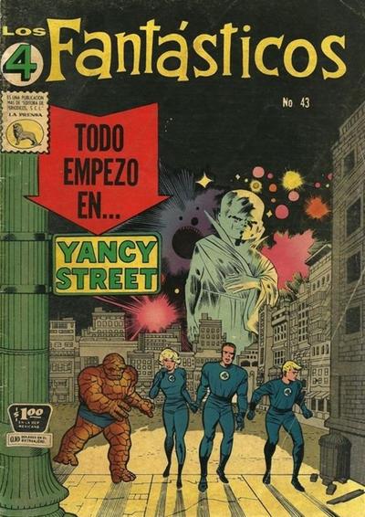 Cover for Los 4 Fantásticos (Editora de Periódicos La Prensa S.C.L., 1962 series) #43