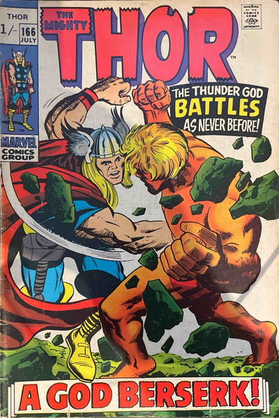 Cover for Thor (Marvel, 1966 series) #166 [Regular Edition]