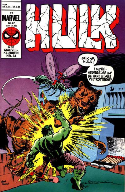 Cover for Hulk (Interpresse, 1984 series) #5/1985
