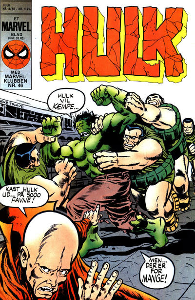 Cover for Hulk (Interpresse, 1984 series) #8/1985
