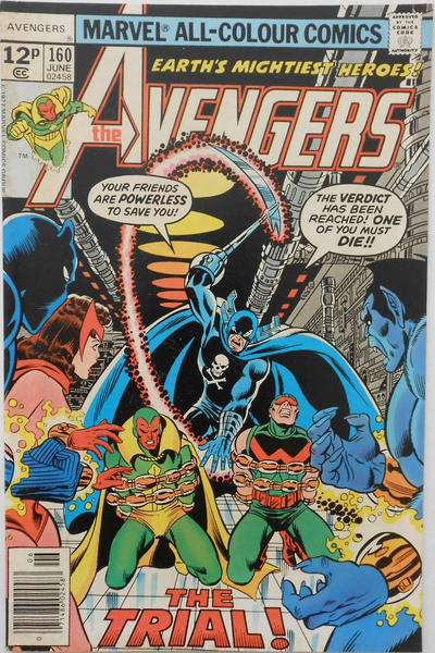 Cover for The Avengers (Marvel, 1963 series) #160 [35¢ Price Variant]