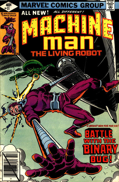 Cover for Machine Man (Marvel, 1978 series) #11 [British]