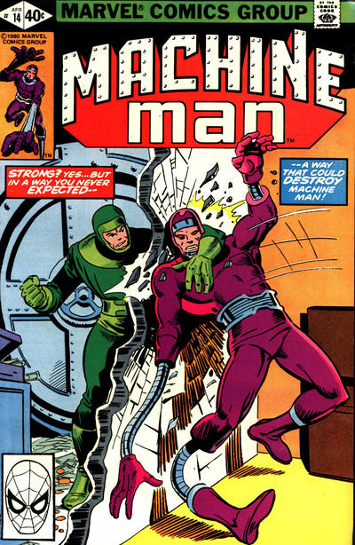 Cover for Machine Man (Marvel, 1978 series) #14 [Direct]