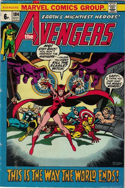 Cover for The Avengers (Marvel, 1963 series) #104 [Regular Edition]