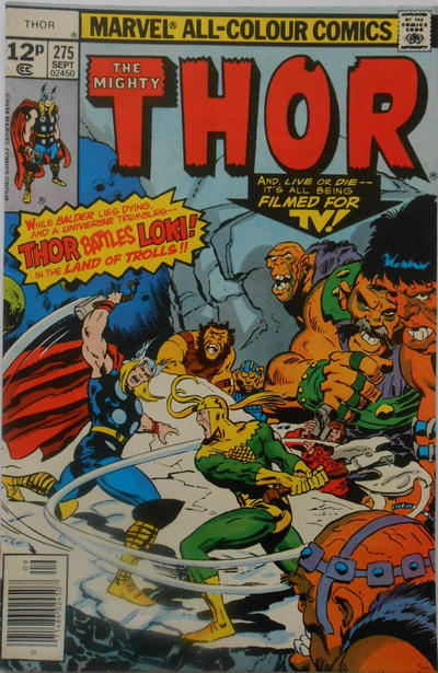 Cover for Thor (Marvel, 1966 series) #275 [Regular Edition]