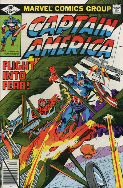Cover for Captain America (Marvel, 1968 series) #235 [British Price Variant]