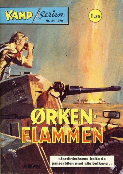 Cover for Kamp-serien (Serieforlaget / Se-Bladene / Stabenfeldt, 1964 series) #34/1970