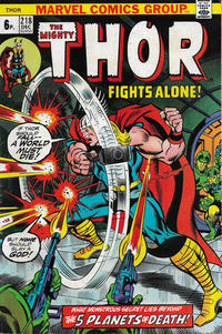 Cover Thumbnail for Thor (Marvel, 1966 series) #218 [British]