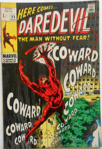 Cover Thumbnail for Daredevil (Marvel, 1964 series) #55 [British Price Variant]