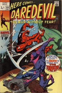 Cover Thumbnail for Daredevil (Marvel, 1964 series) #59 [British Price Variant]