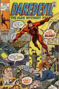 Cover Thumbnail for Daredevil (Marvel, 1964 series) #74 [British]
