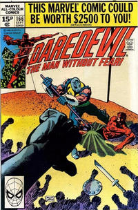 Cover Thumbnail for Daredevil (Marvel, 1964 series) #166 [British]