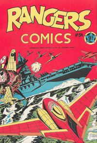 Cover Thumbnail for Rangers Comics (H. John Edwards, 1950 ? series) #54