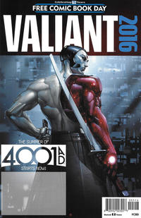 Cover Thumbnail for Valiant: 4001 A.D. FCBD Special (Valiant Entertainment, 2016 series)  [Black Logo - Clayton Crain]