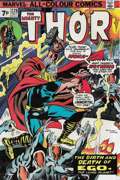 Cover for Thor (Marvel, 1966 series) #228 [British]