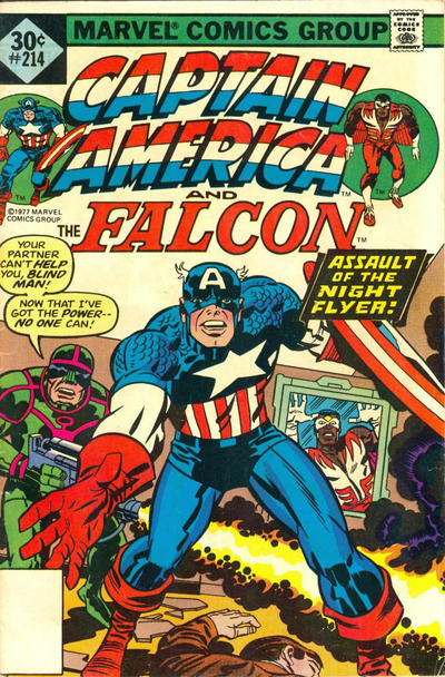 Cover for Captain America (Marvel, 1968 series) #214 [35¢ Price Variant]