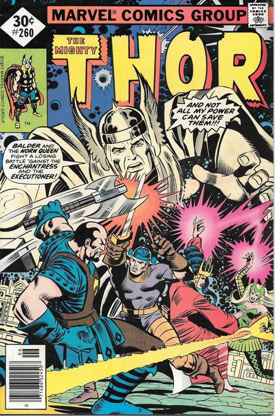 Cover for Thor (Marvel, 1966 series) #260 [Whitman]