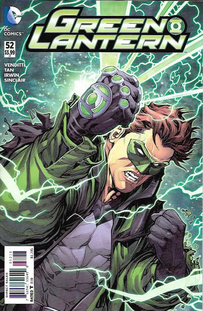 Cover for Green Lantern (DC, 2011 series) #52 [The New 52! Variant]