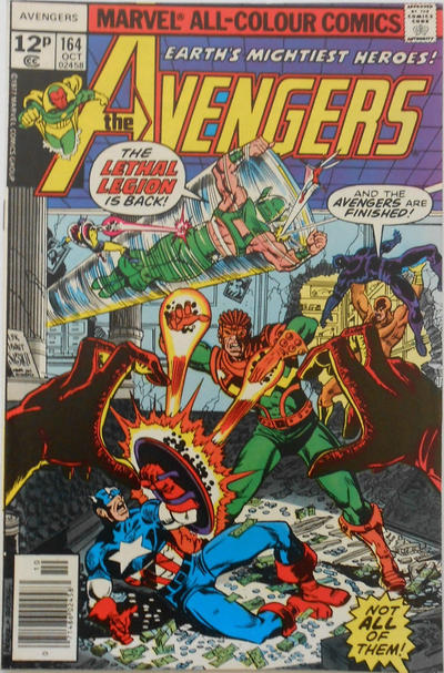 Cover for The Avengers (Marvel, 1963 series) #164 [35¢ Price Variant]