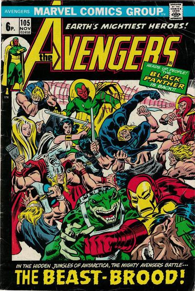 Cover for The Avengers (Marvel, 1963 series) #105 [Regular Edition]