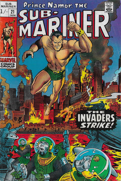 Cover for Sub-Mariner (Marvel, 1968 series) #21 [Regular Edition]