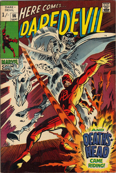 Cover for Daredevil (Marvel, 1964 series) #56 [British Price Variant]