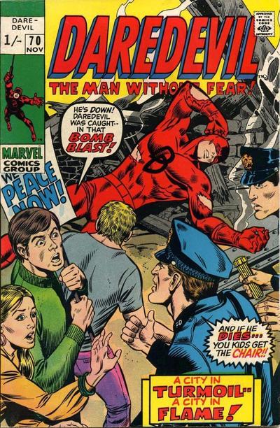 Cover for Daredevil (Marvel, 1964 series) #70 [Regular Edition]
